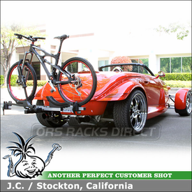 """1999 Plymouth Prowler Bike Rack with Thule 917XTR T2 Hitch Bike Rack for 1-1/4"""" Hitches"""