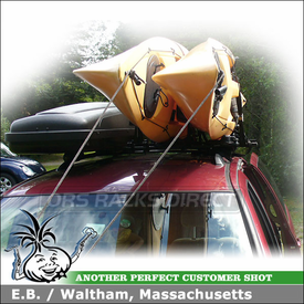 1999 Toyota Sienna Kayak Roof Rack with Inno IN-FR Car Rack System and INA450 Kayak Rack