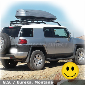 2001 Toyota Fj Cruiser Roof Rack Cargo Box With Thule 450 Crossroad System  685xt