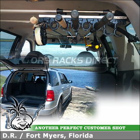 2002 Ford Explorer Fishing Rod Rack using Inno ZR356 First Strike Interior Fishing Poles Carrier