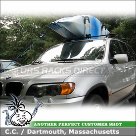2003 BMW X5 Roof Rack And Kayak Rack With Thule 45058 Crossroad System And  Thule 830
