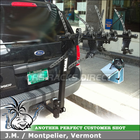 2003 Ford Explorer Hitch Bike Rack using Thule 914XT RoadWay 4 Bike Hitch Rack