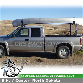 2003 GMC Sierra Pickup Truck Canoe Rack Using Yakima Outdoorsman and Q Tower Roof Rack