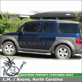 2003 Honda Element Roof Rack And Cargo Carrier With Yakima Control Towers U0026  Thule Luggage Box