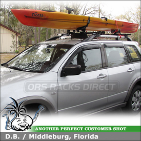 Delightful 2003 Mitsubishi Outlander Kayak Roof Rack With Yakima RailGrab Towers, Mako  Saddles HullyRoller Kayak
