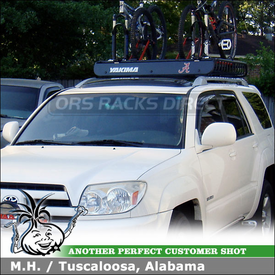 2003 Toyota 4Runner Roof Rack Basket And Bike Racks With Yakima MegaWarrior  Basket U0026 2 RockyMounts