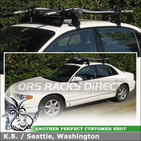 2004 Buick Regal Two Bike Cartop Rack with Wind Deflector