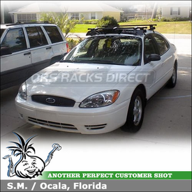 2004 Ford Taurus Car Roof Rack & Wind Fairing using Inno IN-SU Stays & K504 Fit Hooks and INA262 Faring