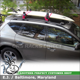 2004 Nissan Murano Factory Rack Mount Kayak & Surfboard Rack using MPG110MD Malone Saddle Up Pro