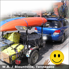 2004 Subaru Impreza WRX Bike Rack and Trailer Kayak Rack