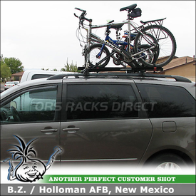 2004 Toyota Sienna Roof Rack For 4 Bikes With Yakima RailGrab Towers,  Copperhead And Raptor