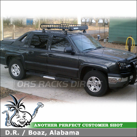 2005 Chevy Avalanche Cab Rooftop Basket Rack