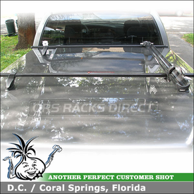 2005 Dodge Ram 1500 Truckbed Topper-Tonneau Bike Rack using Thule 430 Tracker II & TK13 Kit and 517 Peloton