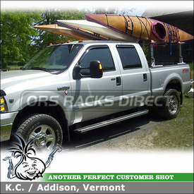 2005 Ford F350 Truck Bed Rack + Kayak Holders using Thule 422XT Xsporter Truck Rack & Malone Stax Pro Kayak Stackers