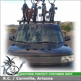 2005 Scion xB Roof Rack for Bikes with Yakima Q Tower System and Raptor Bike Racks