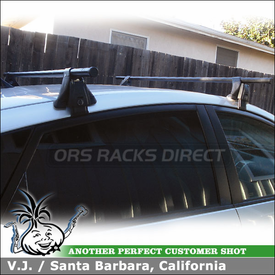 2005 Toyota Prius Roof Rack using Yakima Q Towers, Q5 Clips & Q124 Clips