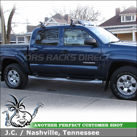 2005 Toyota Tacoma Crew Cab Roof Rack using Thule 400XTR Rapid Aero Foot Pack, 2160 Fit Kit & 872XT Fairing