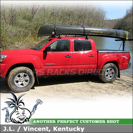 2005 Toyota Tacoma Quad Cab Roof Rack using Yakima Q Towers, Q127 Clips & Q128 Clips