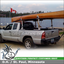 2005 Toyota Tacoma Truck Rack for Hauling 2 Canoes with Thule 422XT Xsporter