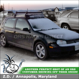 2005 VW GTI Factory Rack Snowboards Carrier and Wind Fairing