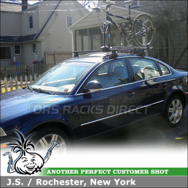 2005 VW Passat Bike Roof Rack System using Inno IN-SU Stays w/ K533 Fit Hooks & Inno INA381 Fork Lock