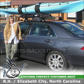 2006 Honda Accord Roof Kayak Rack Side-Loading Lift Assist