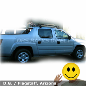 2006 Honda Ridgeline Roof Rack for Bikes with Yakima Q Tower System & Viper Bike Racks