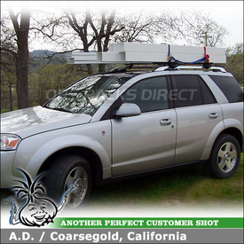 2006 Saturn VUE Roof Rack with Thule 45050 Crossroad Car Rack System