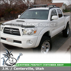 2006 Toyota Tacoma Ski-Snowboard Rack for Factory Rack Crossbars using Yakima Fat Cat 6
