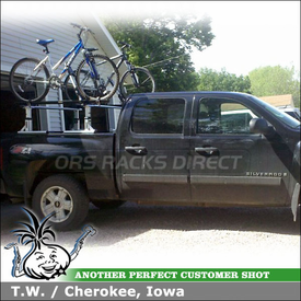 2007 Chevy Silverado Truck Rack Bike Racks using Thule 422XT Xsporter, 599XTR Big Mouth & Xadapt2 Kits