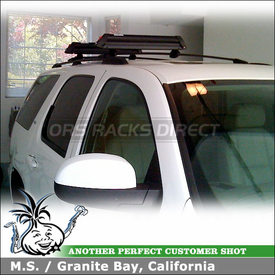 2007 Chevy Tahoe Ski Rack - Snowboard Rack for Factory Crossbars using Yakima ButtonDown Aero