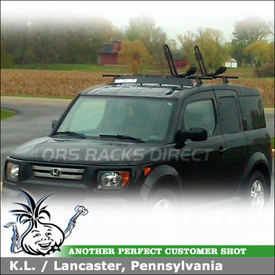 2007 Honda Element Roof Rack J Kayak Rack System Using Yakima Contol  Towers, LP9