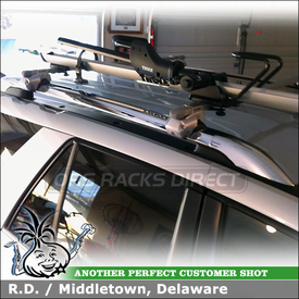 2007 Saturn Vue Roof Bike Rack for Factory Side Rails using Inno IN-FR Roof Rack and Thule 594XT Side Arm