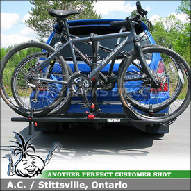 2007 Subaru Forester Hitch Bike Rack using Yakima StickUp 2 Bike Platform Hitch Rack