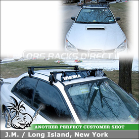 "2007 Subaru Impreza WRX Roof Rack and Fairing with Yakima Q Towers, Q78 Clips & 44"" Wind Faring"
