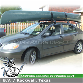 Lovely 2007 Toyota Corolla Canoe Roof Rack With Yakima Q Towers, Q91 Clips, Q31  Clips
