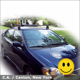 2007 Toyota Corolla Roof Rack with Yakima Q Tower System