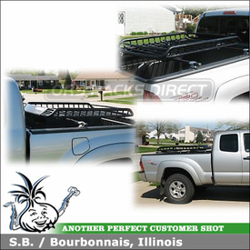 2007 Toyota Tacoma Pickup Truckbed Rack & Gear Basket using Inno RT102 Truck Rack & Cargo Basket