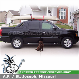 2008 Chevy Avalanche Roof Rack using Yakima RailGrab Kit for Factory Side Rails