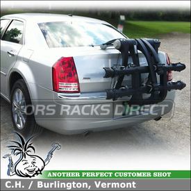 2008 Chrysler 300 Trunk Bike Rack using 9003 Thule RaceWay Platform Bike Rack