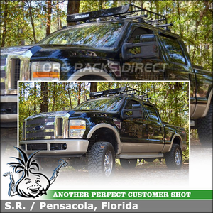 2008 Ford F250 Truck Cab Roof Rack With Luggage Basket