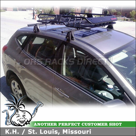 2008 Nissan Rogue Roof Rack Luggage Basket Using Yakima Q Towers U0026 Q34  Clips And Malone