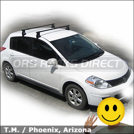 2008 Nissan Versa Roof Rack with Thule 400XT Aero Car Rack System