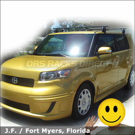2008 Scion xB Roof Rack with Yakima Q Tower Car Rack System