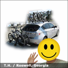 2008 Subaru Impreza WRX Bike Racks with Thule 460 Podium System & 517 Peloton and 917XT T2