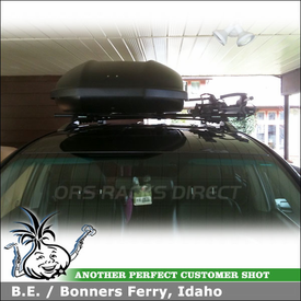 2008 Toyota Highlander Bike Roof Rack And Cargo Box With Yakima Railgrab Kit Skybox 21