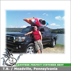 2008 Toyota Tacoma Roof Rack for Kayaks with Inno INA450 Kayak Carrier