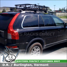 Attractive 2008 Volvo XC90 Roof Rack Gear Basket Using Thule 45050 Crossroad Kit,  Thule 690XT MOAB