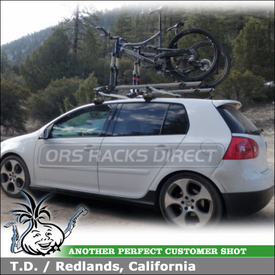 2008 VW GTI Roof Rack for Bikes using Thule 480R Rapid Traverse w/ 1323 Fit Kit & 518 Echelon Bike Racks