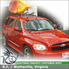 2009 Chevrolet HHR SS Roof Rack for Kayaks with 2 Thule 835XTR Hull-a-Port Kayak Racks